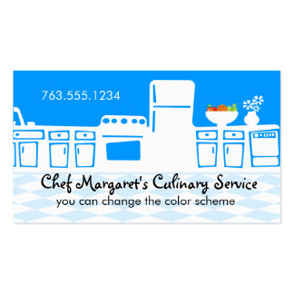 Custom color retro kitchen cooking baking biz card