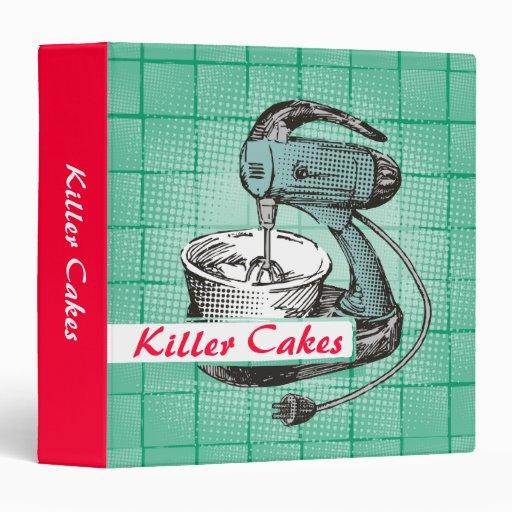 Custom color retro stand mixer baking recipe binde binder