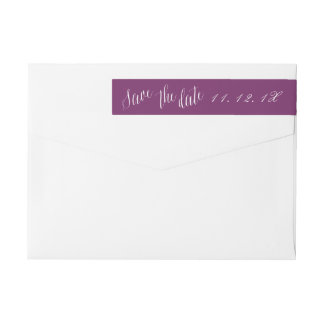 Custom color Save the Date Address Labels