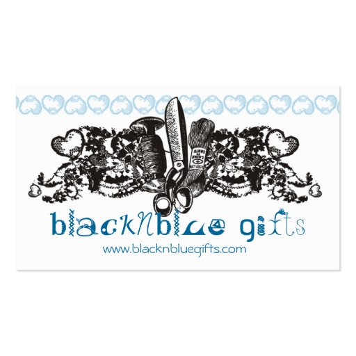 custom color sewing embroidery goth lace card business card