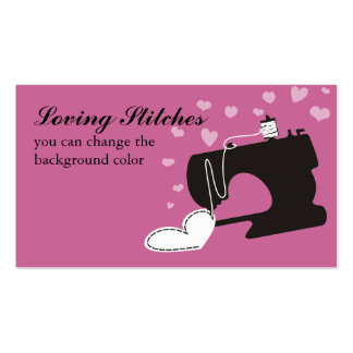 Custom color sewing machine stitching heart card