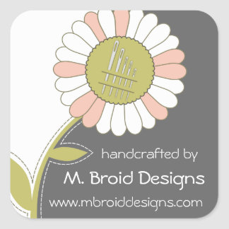 Custom color sewing needles flower gift label