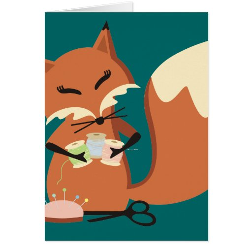 Custom color sewing notions fox gift card