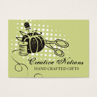 Custom color sewing notions pincushion scissors business card