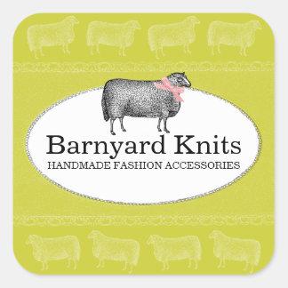 Custom color sheep wool knitting crochet label 2