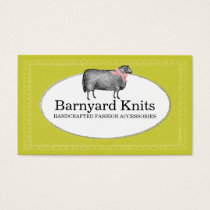 Custom color sheep wool yarn knitting crochet 2 business card