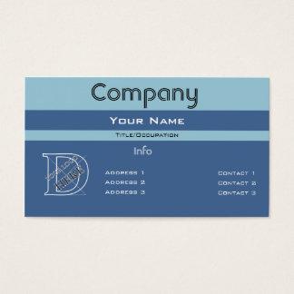 Custom Color-Simple Blue Barred Design Business Card