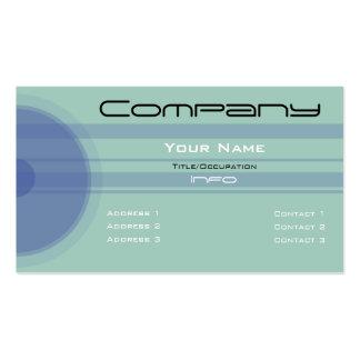 Custom Color-Simple Blue Circles n Bars Business Cards