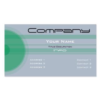 Custom Color-Simple Green Circles n Bars Business Card Template