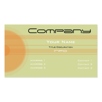 Custom Color-Simple Orange Circles n Bars Business Cards