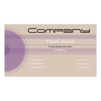 Custom Color-Simple Purple Circles n Bars Business Card Template