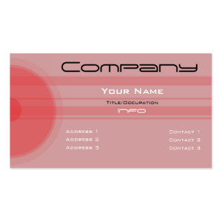 Custom Color-Simple Red Circles n Bars Business Cards