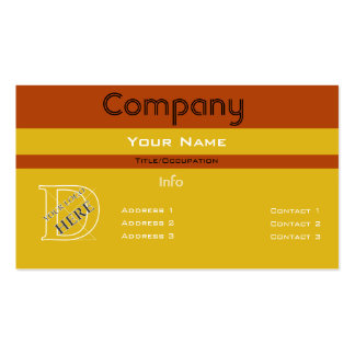 Custom Color-Simple Yellow Barred Design Business Card Templates