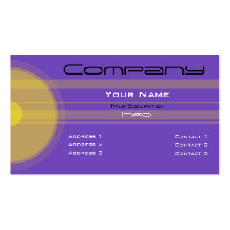Custom Color-Simple Yellow Circles n Bars Business Cards