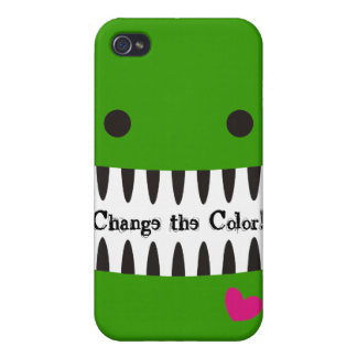 Custom color smiling teeth monster heart  iPhone 4 cover