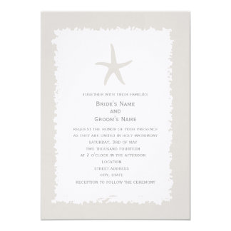 Custom Color Starfish Wedding Invitation