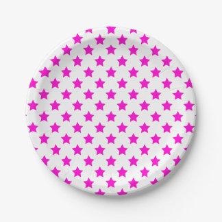 Custom Color Stars 7 Inch Paper Plate