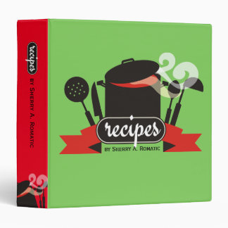 custom color steaming pot utensils recipe cookbook binder