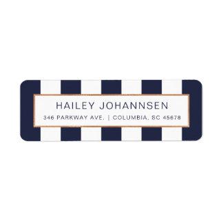 Custom Color Stripes Faux Foil Address Labels