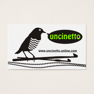 custom color talking black bird crochet hooks yarn business card