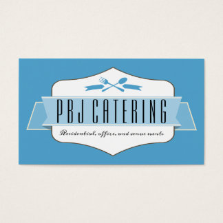 Custom color utensils chef catering business card