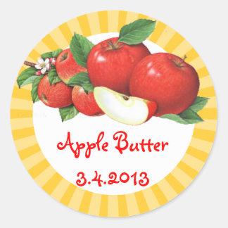 Custom color vintage apples fruit canning label sticker