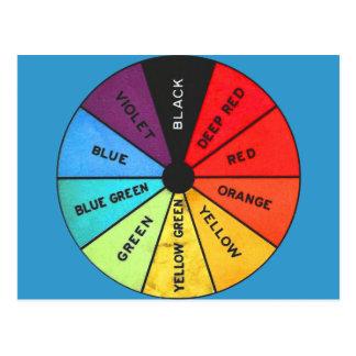 Custom Color Vintage Color Wheel Postcard