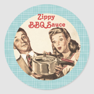 custom color vintage cooking couple canning label