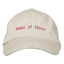 Custom Color Wedding Maid of Honor Wording Embroidered Baseball Cap