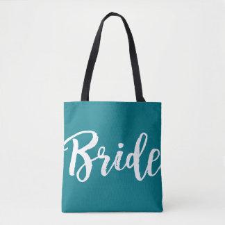Custom Color Wedding Party Bride Tote Bag