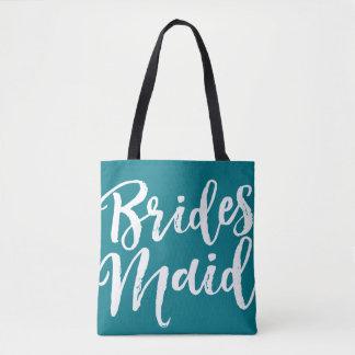 Custom Color Wedding Party Bridesmaid Tote Bag