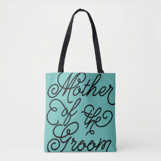 Custom Color Wedding Party Mother of the Groom Tote Bag