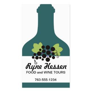 custom color wine bottle grapes sommelier biz card Double-Sided standard business cards (Pack of 100)