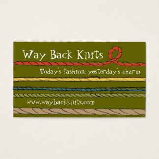 Custom color yarn strings knitting crochet card