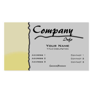 Custom Color-Yellow Scribble Seperation Business Card