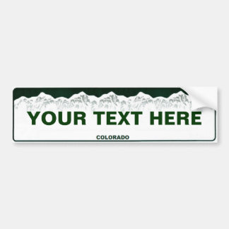 Custom Colorado Bumper Sticker