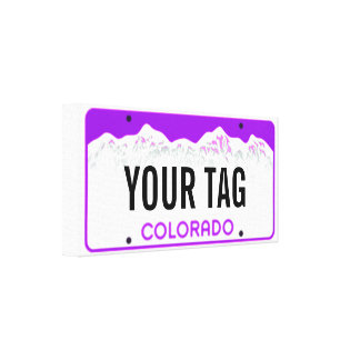 Custom Colorado License Plate Breast Cancer Gallery Wrapped Canvas