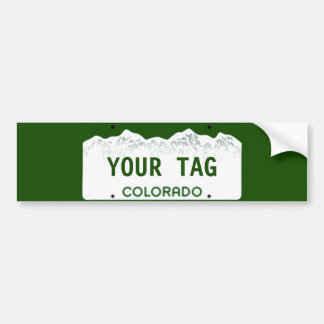 Custom Colorado License Plate Bumper Sticker