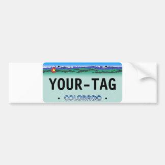 Custom Colorado License Plate - dern Bumper Stickers