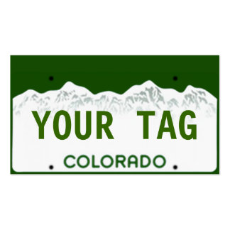 Custom Colorado License Plate Double-Sided Standard Business Cards (Pack Of 100)
