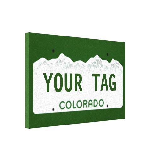 Custom Colorado License Plate Gallery Wrap Canvas