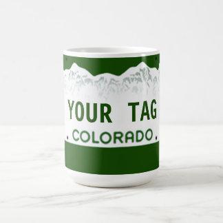 Custom Colorado License Plate Coffee Mugs