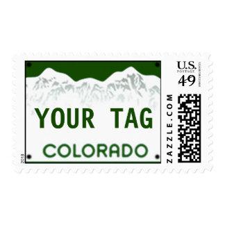 Custom Colorado License Plate Postage