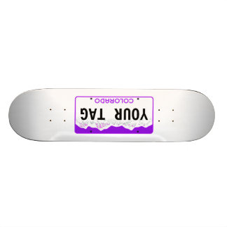 Custom Colorado License Plate skateboard