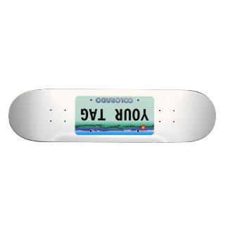 Custom Colorado License Plate Skate Deck