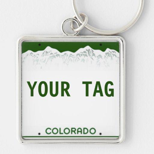 Custom Colorado License Plate - Square Edition Keychain ...