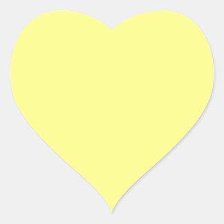 Custom colored Highlighter Yellow Heart Sticker