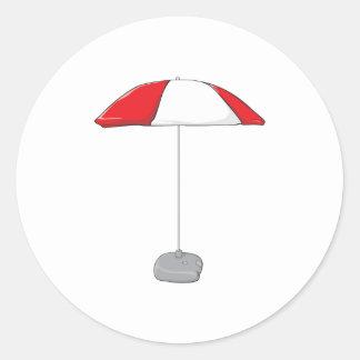Custom Colorful Beach Umbrella Invitation Stamps Classic Round Sticker