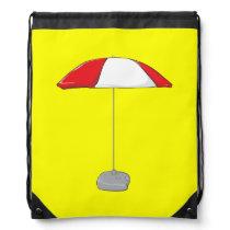 Custom Colorful Beach Umbrella Water Bottle Tag Drawstring Bag