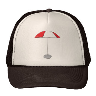 Custom Colorful Beach Umbrella Water Bottle Tag Hat